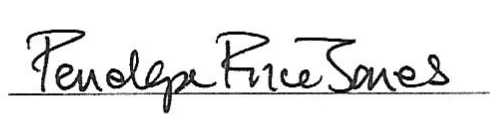 Signature of Penelope Price Jones