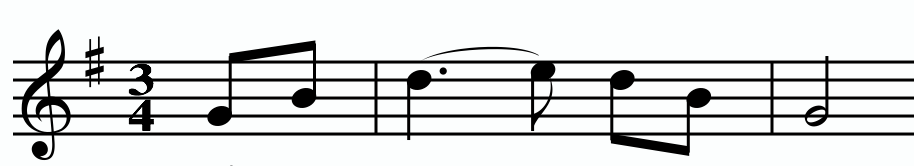 Two bars' music of an Eriskay love lilt