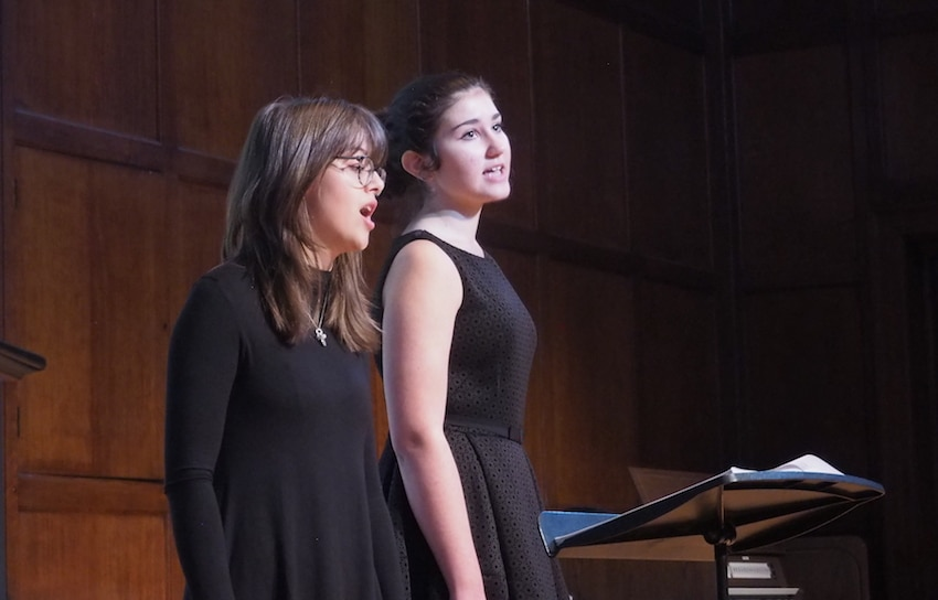Two young singers
