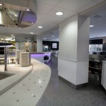 High-tech dining hall at Chester University